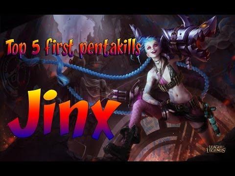 #1 League Top 5 Pentakills- First League of Legends Jinx Pentakills + Get Jinxed Soundtrack Download