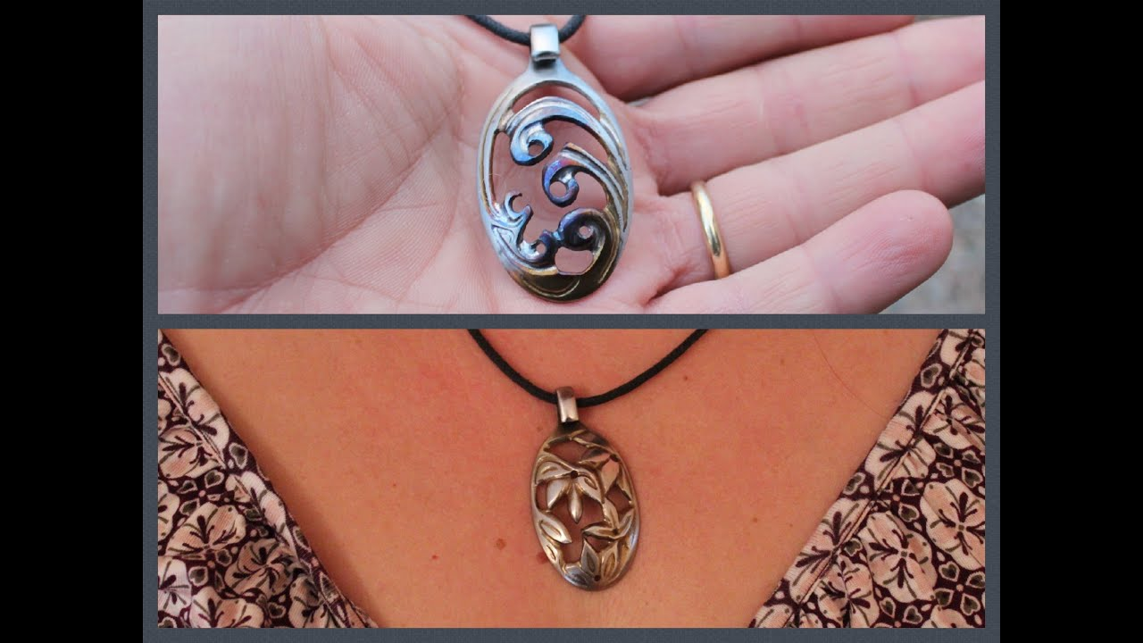 necklace pendant pin life tree carved carving of hand wood