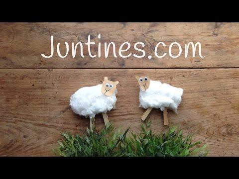 Adorables ovejitas hechas con algodón y pinzas, ¡facilísimas!
