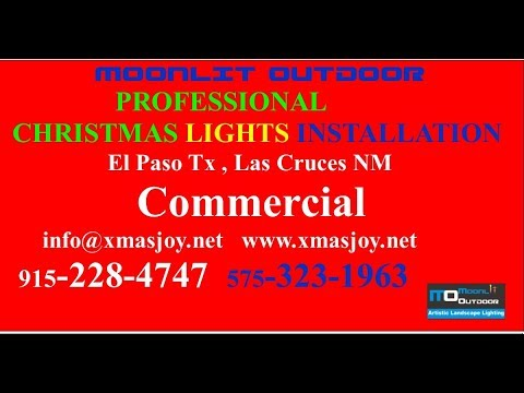 Business Commercial Christmas Lights Installation EL Paso Tx Las Cruces NM