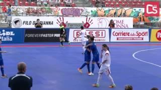 Calcio a 5, Nazionale femminile: Italia - Slovacchia, highlights e interviste