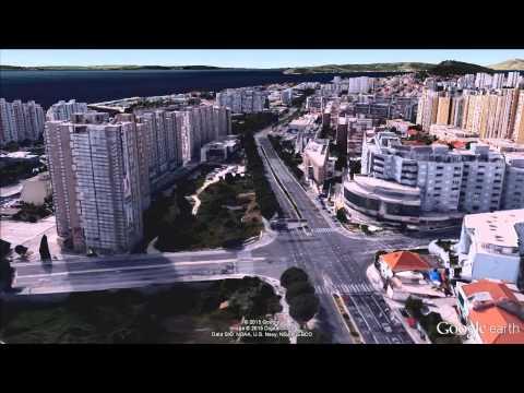 Split, Croatia - 3D aerial view