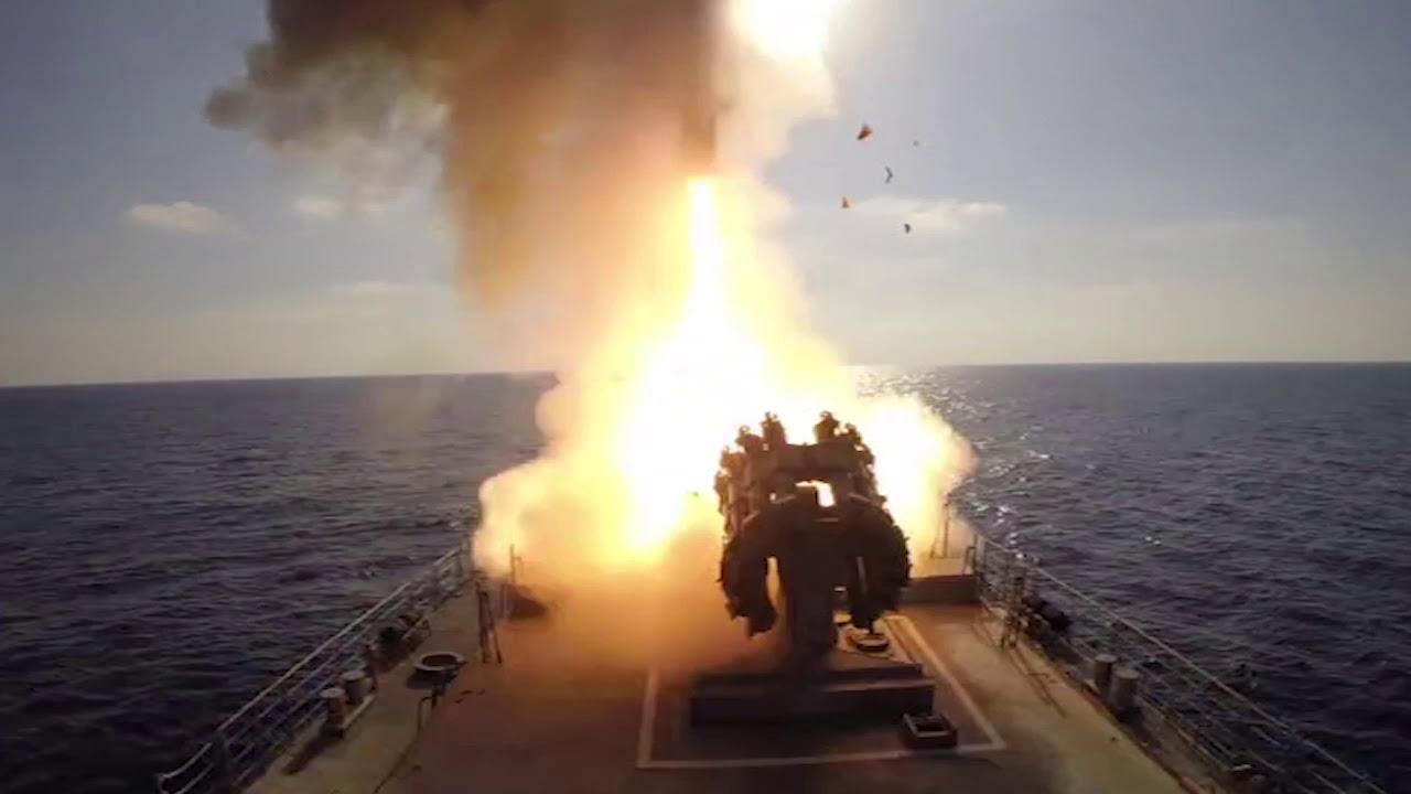 «Калибры» в действии: фрегат «Адмирал Эссен» нанёс ракетный удар по позициям ИГ в Сирии