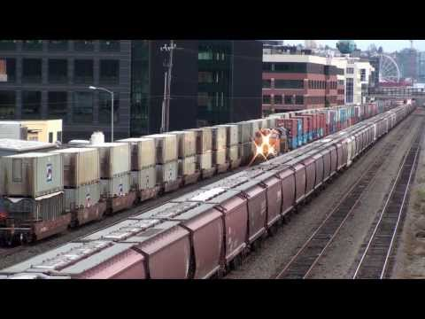 Hanging out above the BNSF mainline, Seattle, 11-19-2013