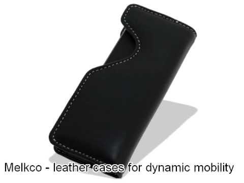 Melkco Tasche Leder Etui cuir ~ HTC S740 Pouch Holder Type (Black)