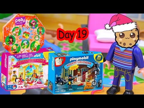 Polly Pocket, Playmobil Holiday Christmas Advent Calendar Day 19 Toy Surprise Opening Video