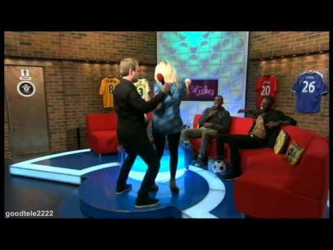 Emily Atack Gets An Awkward Hug