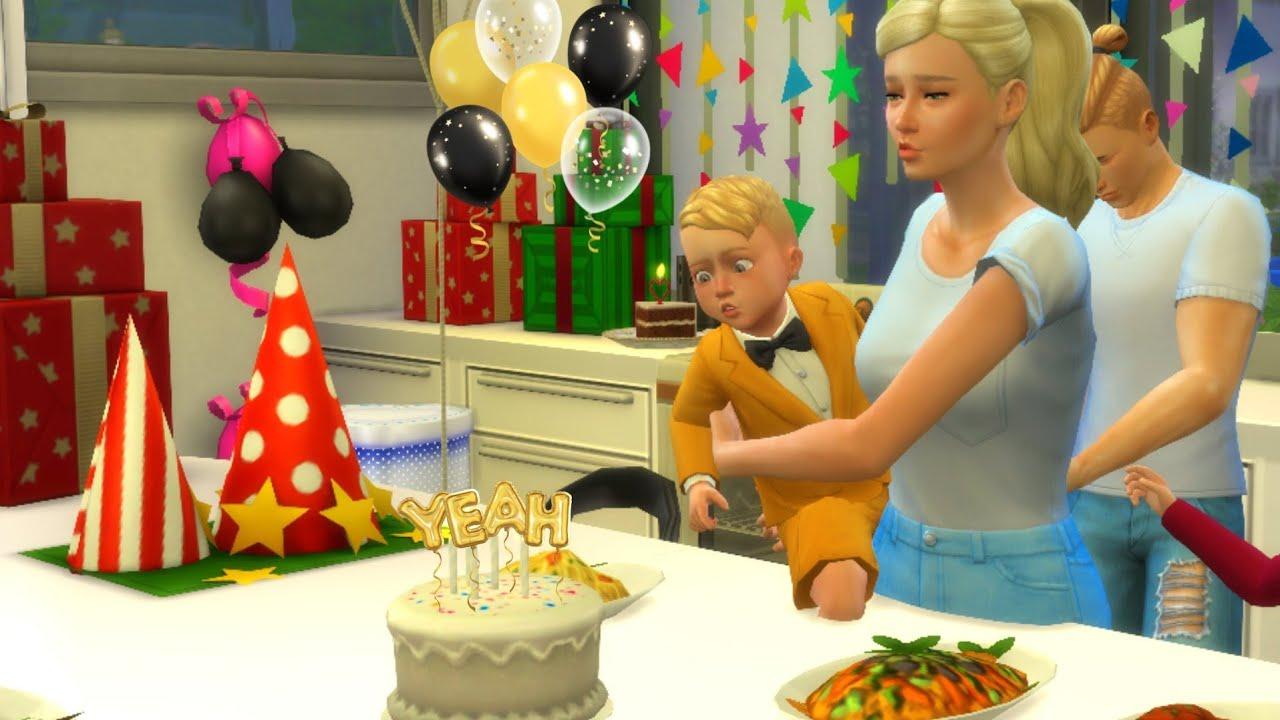 바비 임신 출산 심즈4 스토리 드라마 세쌍둥이 토미 캘리 첼시 아기 생일파티 3 Babies Tommy Kelly Chelsea Birthday Party in Sims 4