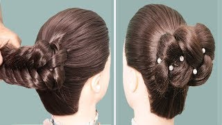 how to make flower bun hairstyles || hairstyles for girls || Easy hairstyles 2019