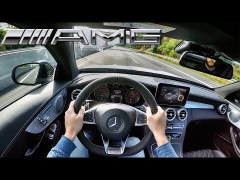 Mercedes AMG C63 Coupe ACCELERATION & TOP SPEED POV on AUTOBAHN