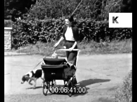 Early 50s UK Housewife Day in a Life Home Movies