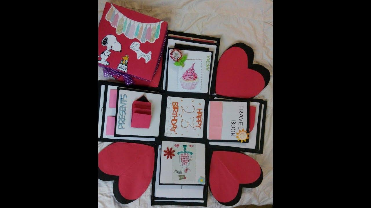 Explosion Box Gift For Boyfriend Easy Handmade Gifts Ideas
