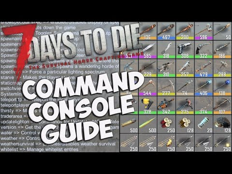 7 Days to Die Command Console Guide | Basic Console Commands | How to use Creative mode & Debug mode