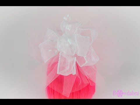 How to Make Puffy Simple DIY Wedding Gift Wrap Topper