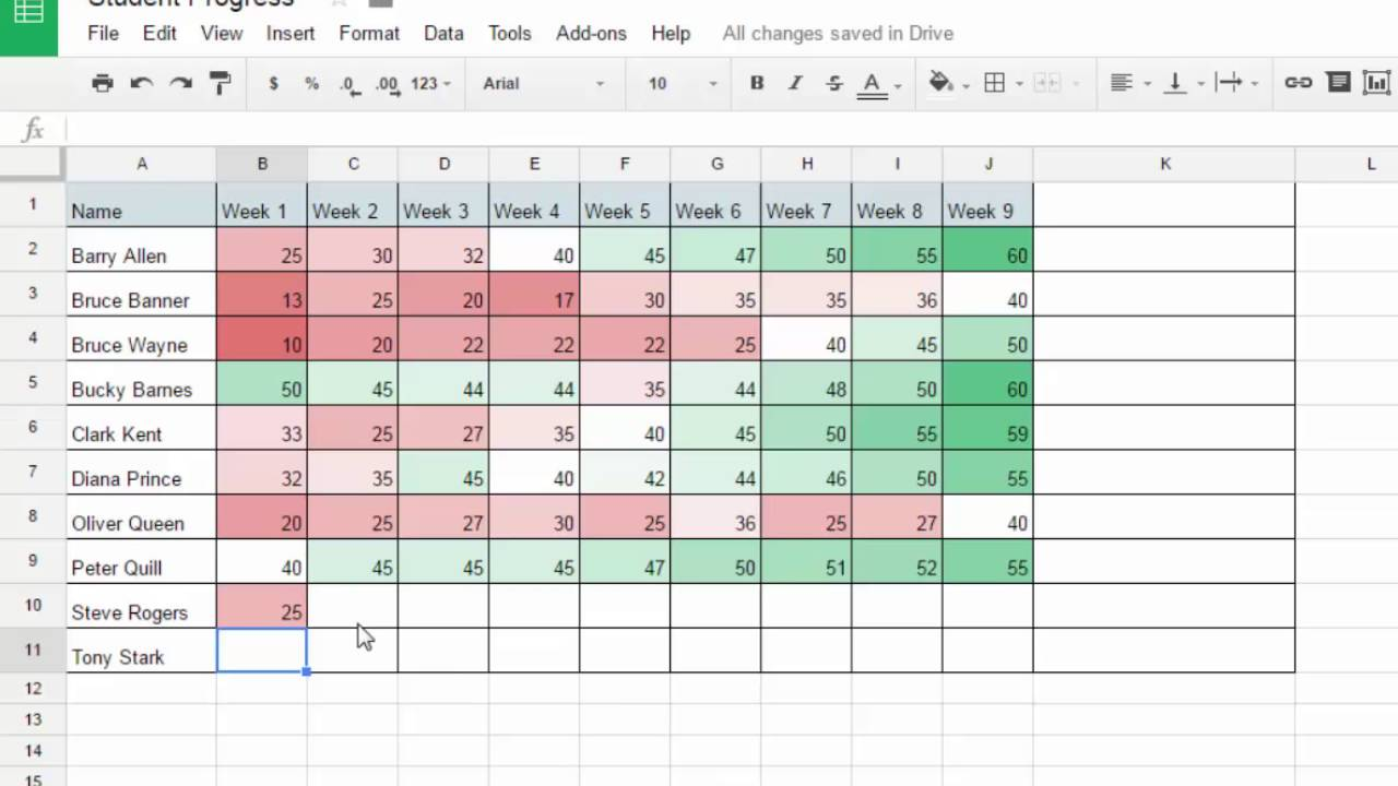 track student progress with google sheets youtube