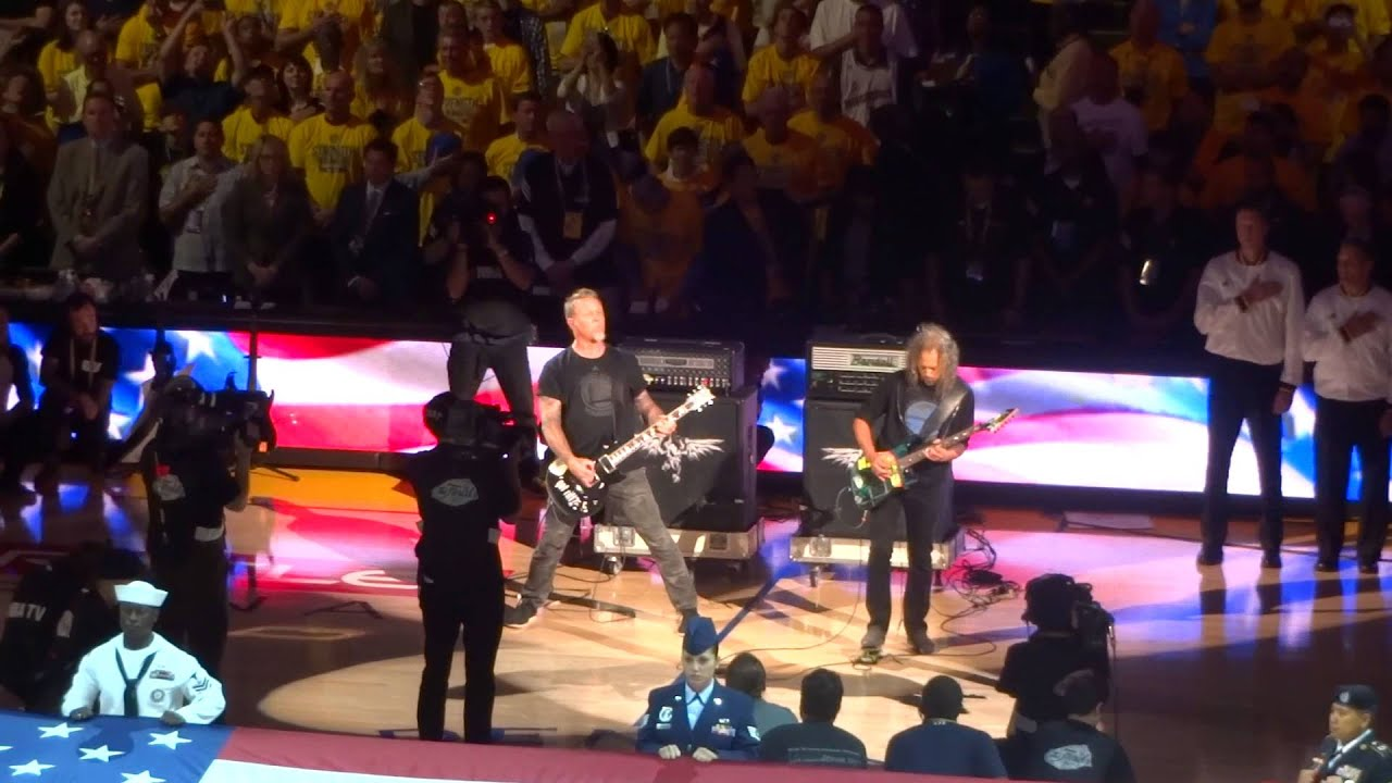 Metallica - Golden State Warriors National Anthem - YouTube