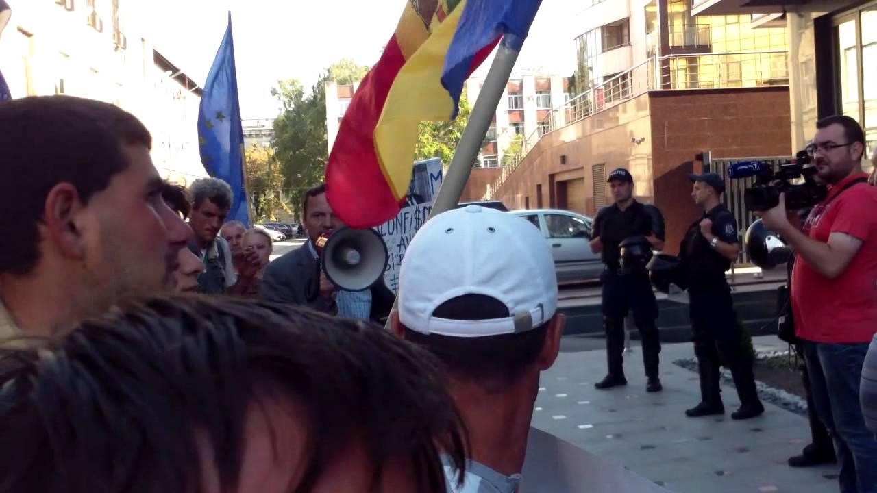 Manifestanții au trecut pe lîngă #MAI cu zgomot