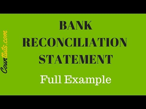 Bank Reconciliation Statement Explained | FULL EXAMPLE