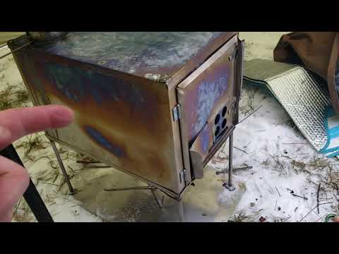 DIY Titanium stove 2nd burn with my new SeekOutside Cimarron