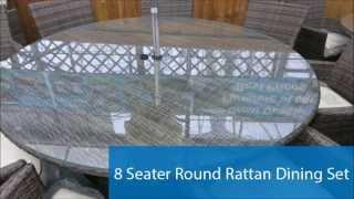 Round Rattan Dining Sets - Best Outdoor Garden Wicker Furniture