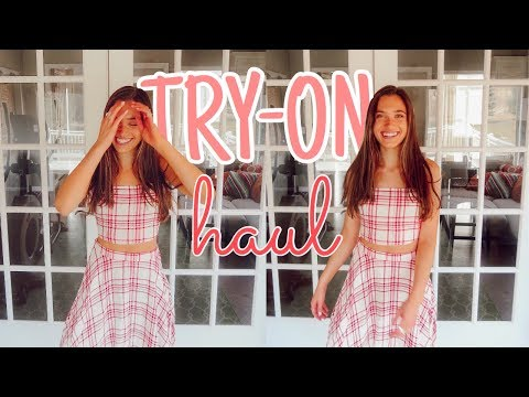 HUGE spring & summer try-on clothing haul | Hannah Meloche