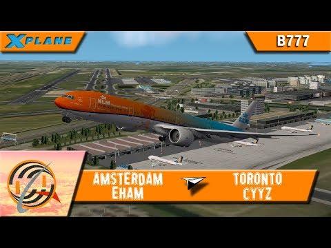 [X-PLANE] Amsterdam [EHAM] to Toronto [CYYZ]   KLM695   B777 [IVAO]