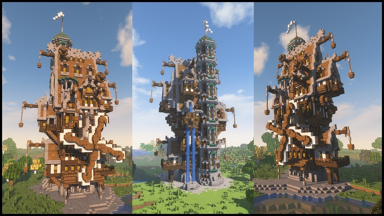 Minecraft EPIC STEAMPUNK HOUSE!!! [World Download] - YouTube