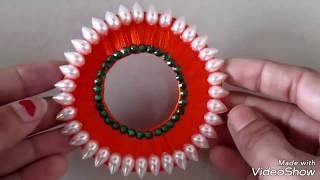 बिस्कुट के डिब्बे से तोरण बनाने की विधि |very beautiful and attractive TORAN design with silk thread