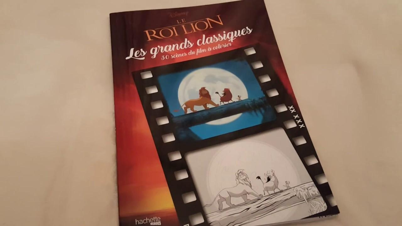 Les Grands Classiques Disney Le Roi Lion 30 Scènes Du Film à Colorier