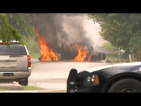 Lone Gunman Assaults Police Station in Dallas