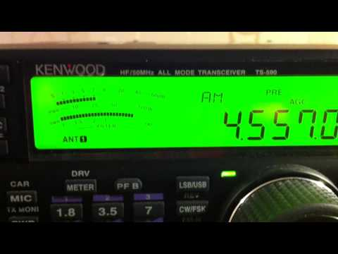 4557 KHz Voice of the people (South Korea) and North Korea Jamming (noise)