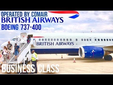 British Airways Business Class Boeing 737-400 Johannesburg to Livingstone