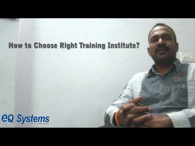 How to Choose Right Training Institute