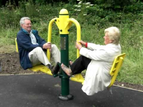 Outdoor fitness equipment for pensioners and senior users youtube