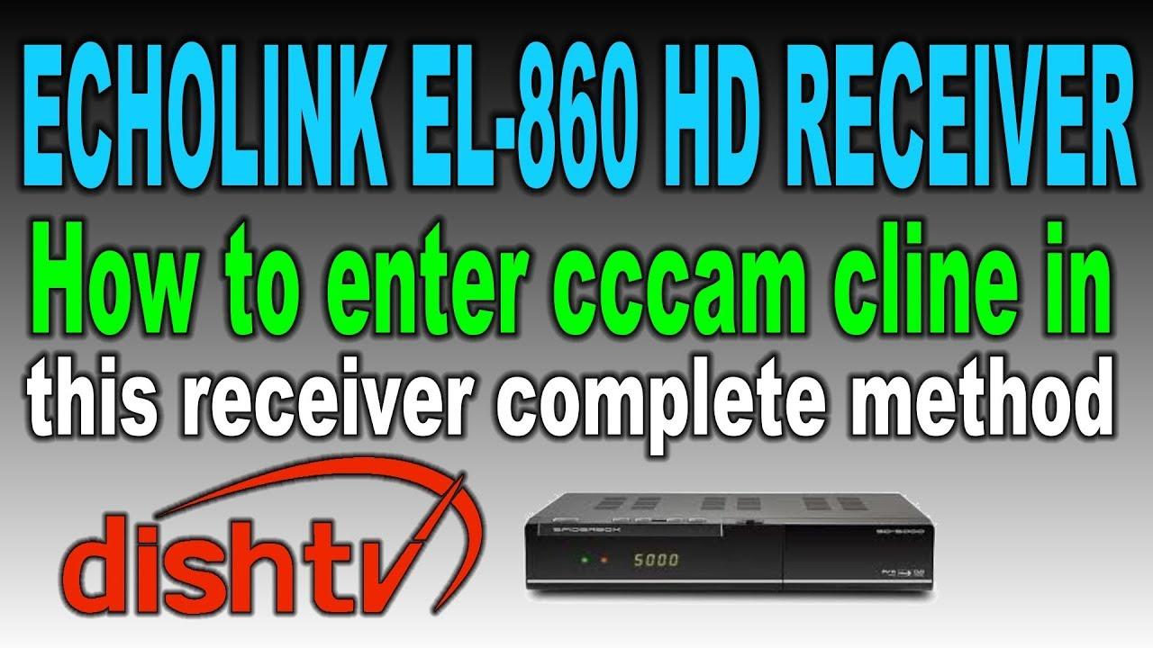Learn to enter cline in Echolink EL 860 HD receiver