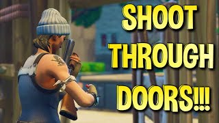 HOW TO SHOOT THROUGH DOORS IN FORTNITE FOR CONSOLE + PC!!! (Season 8 After Patch)