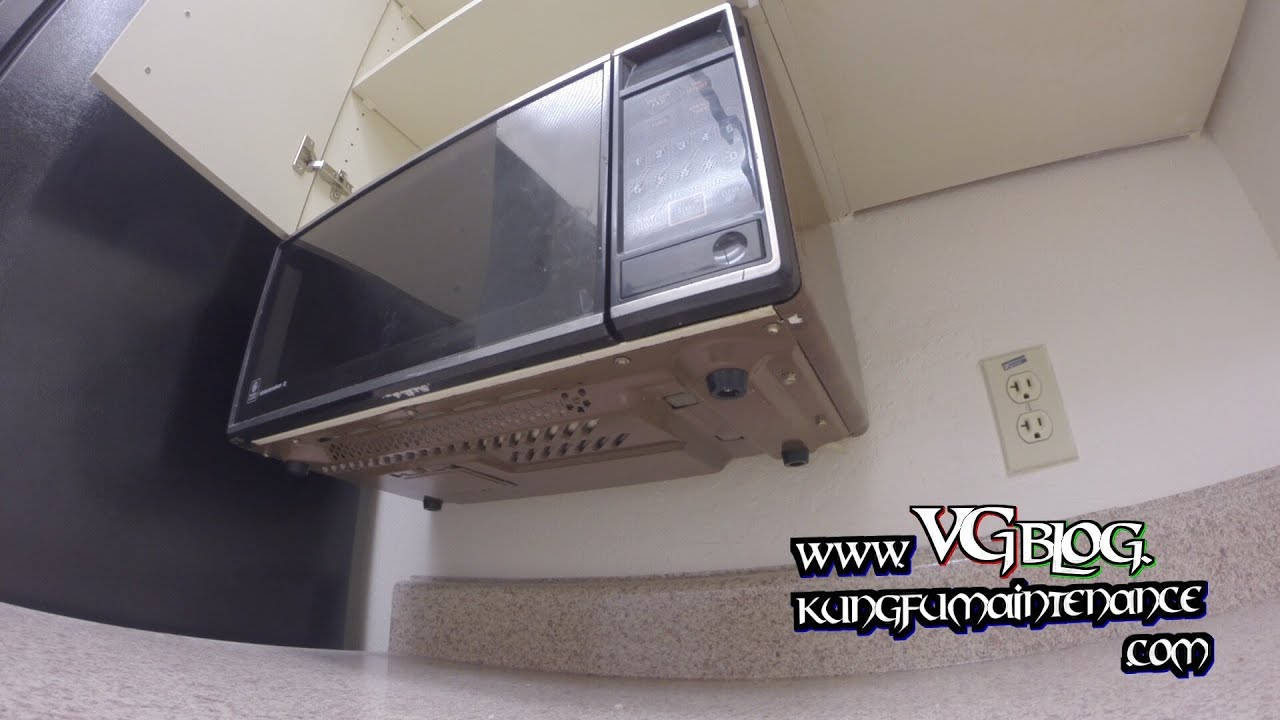 Easy Way How To Take Down Or Mount Under The Cabinet Counter Top Space  Making Microwaves   YouTube