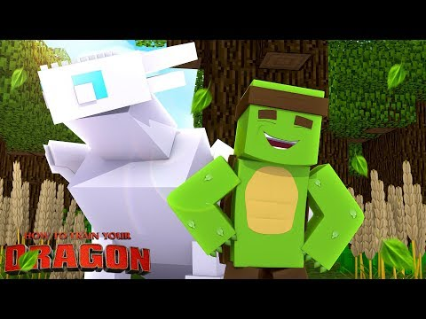 Minecraft Dragons - TINY TURTLE & HIS LIGHTFURY GO TO DRAGON SCHOOL!