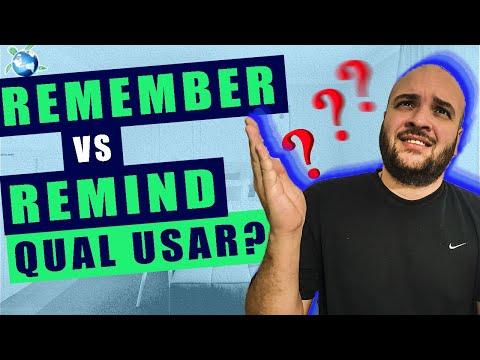 REMEMBER ou REMIND? Descubra qual é a diferença e como usá-los no contexto correto