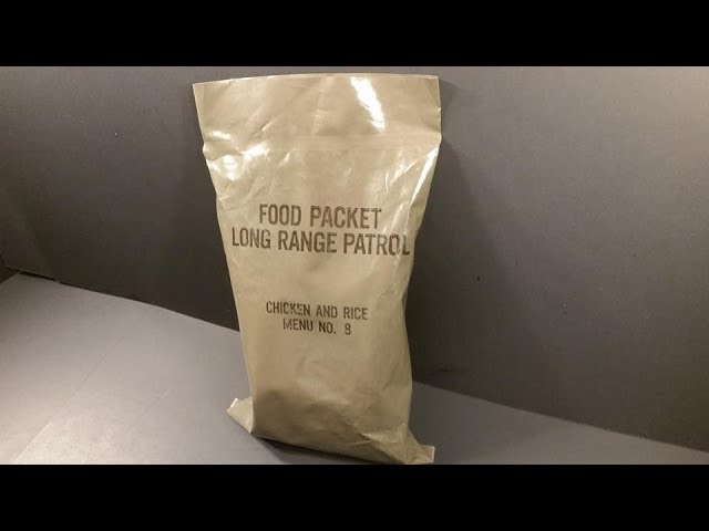 1979 Food Packet Long Range Patrol Ration Vintage MRE Review Meal Ready to Eat Taste Test