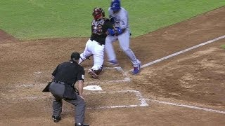 Montero and Puig have words at home plate