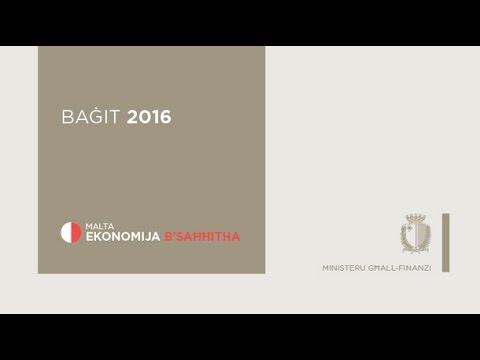 Diskors Baġit 2016: Malta Ekonomija b'Saħħitha - #Budget16