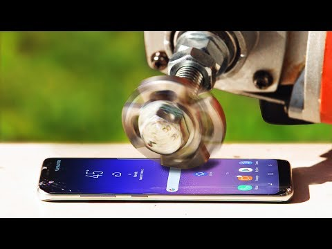 Can a Metal Fidget Spinner Slice Galaxy S8 Completely in Half?