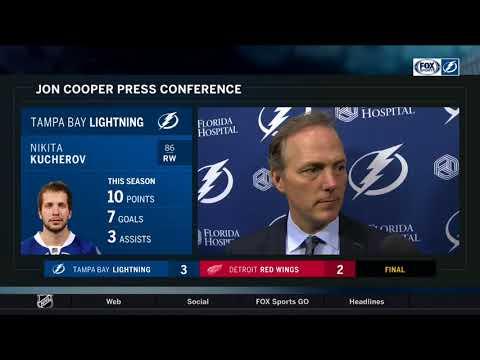 Jon Cooper -- Tampa Bay Lightning vs. Detroit Red Wings 10/16/2017
