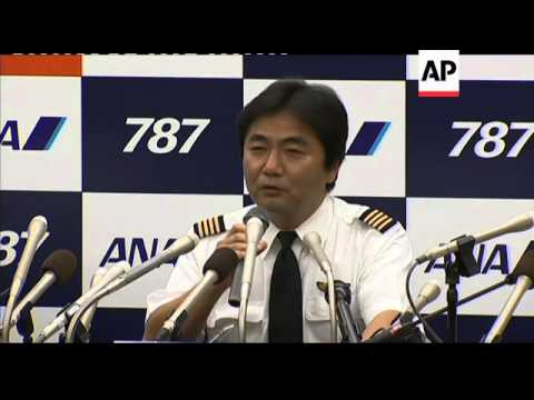 Boeing 787 jet lands in Japan; news conf; analyst