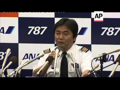 Boeing 787 jet lands in Japan; news conf; analyst