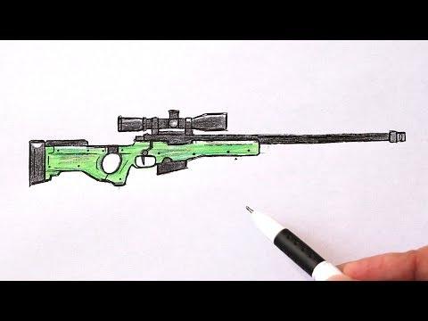 Как нарисовать оружие снайпер AWP поэтапно легко | Ehedov Elnur