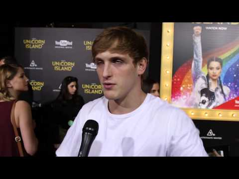A Trip to Unicorn Island: Logan Paul Red Carpet Movie Premiere Interview