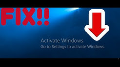HOW TO FIX ACTIVATE WINDOWS ERROR | WINDOWS 10 (WORKING JANUARY 2019)