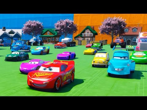 Disney Cars 3 Lightning McQueen in space Underwater Funny Baby Learn Colors with Nursery Rhymes